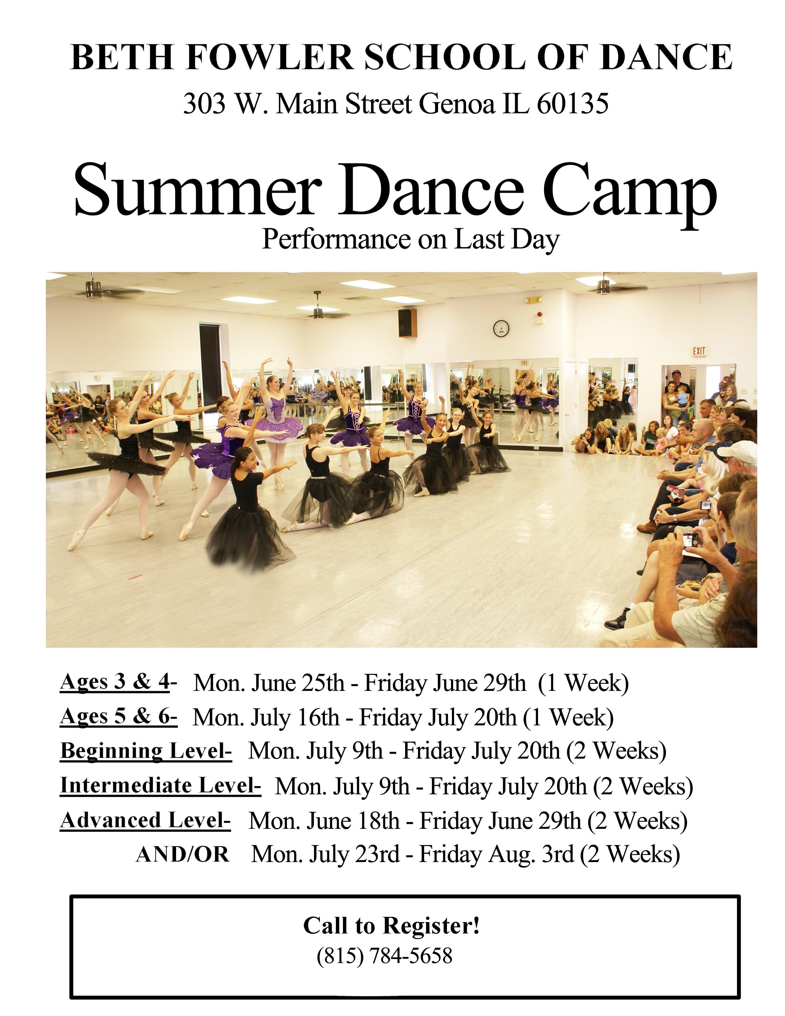 Summer Dance Camp Dates | DeKalb County Online